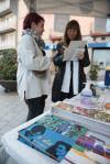 Paradeta d'educació sanitària sobre la Sida a la Plaça de l'Església