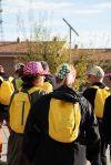 Els participants van lluir les gorres solidàries amb el projecte d'AFANOC, La casa dels xuklis