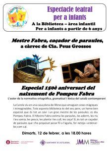 Teatre infantil: Mestre Fabra