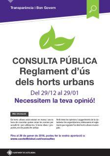 Consulta pública reglament ús horts urbans